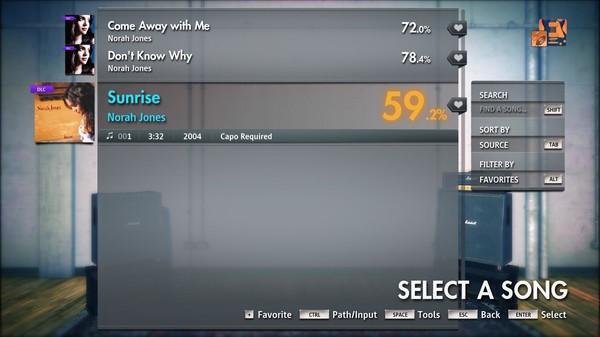 """Скриншот №4 к Rocksmith® 2014 Edition – Remastered – Norah Jones - """"Sunrise"""""""