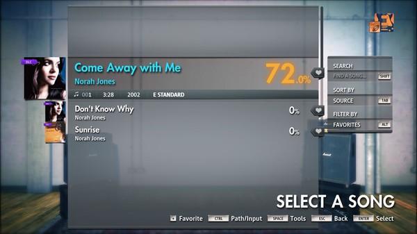 "Скриншот №2 к Rocksmith® 2014 Edition – Remastered – Norah Jones - ""Come Away with Me"""
