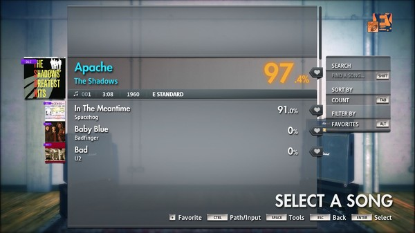 "Скриншот №4 к Rocksmith® 2014 Edition – Remastered – The Shadows - ""Apache"""