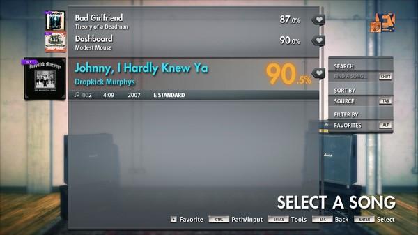 "Скриншот №3 к Rocksmith® 2014 Edition – Remastered – Dropkick Murphys - ""Johnny I Hardly Knew Ya"""