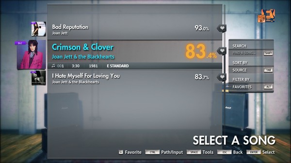"Скриншот №2 к Rocksmith® 2014 Edition – Remastered – Joan Jett  the Blackhearts - ""Crimson  Clover"""
