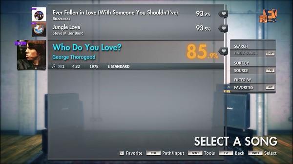 """Скриншот №3 к Rocksmith® 2014 Edition – Remastered – George Thorogood - """"Who Do You Love?"""""""