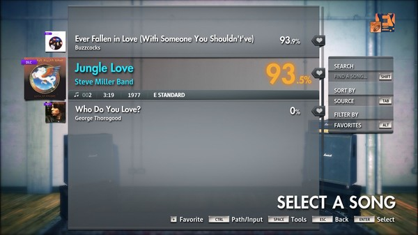 "Скриншот №3 к Rocksmith® 2014 Edition – Remastered – Steve Miller Band - ""Jungle Love"""