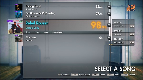 "Скриншот №2 к Rocksmith® 2014 Edition – Remastered – Duane Eddy - ""Rebel Rouser"""