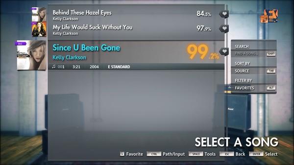 "Скриншот №1 к Rocksmith® 2014 Edition – Remastered – Kelly Clarkson - ""Since U Been Gone"""