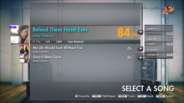 "Скриншот №3 к Rocksmith® 2014 Edition – Remastered – Kelly Clarkson - ""Behind These Hazel Eyes"""