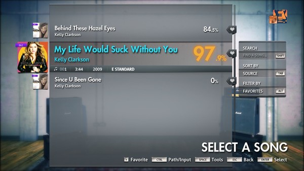 """Скриншот №1 к Rocksmith® 2014 Edition – Remastered – Kelly Clarkson - """"My Life Would Suck Without You"""""""