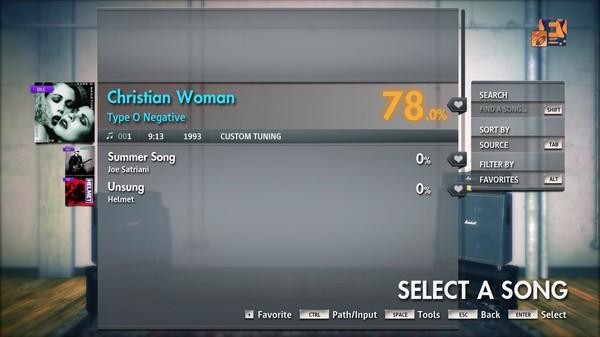 "Скриншот №1 к Rocksmith® 2014 Edition – Remastered – Type O Negative - ""Christian Woman"""