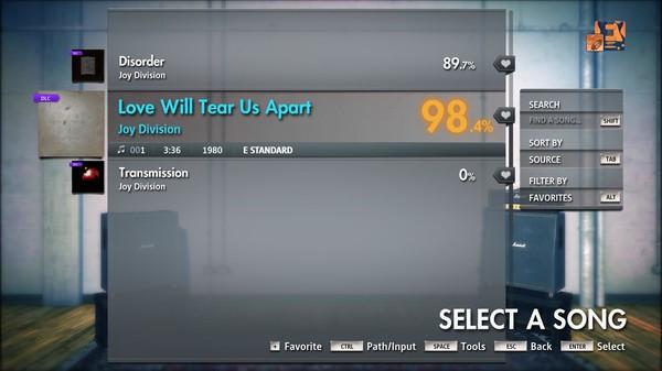 "Скриншот №1 к Rocksmith® 2014 Edition – Remastered – Joy Division - ""Love Will Tear Us Apart"""