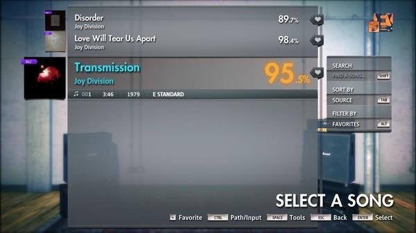 "Скриншот №1 к Rocksmith® 2014 Edition – Remastered – Joy Division - ""Transmission"""
