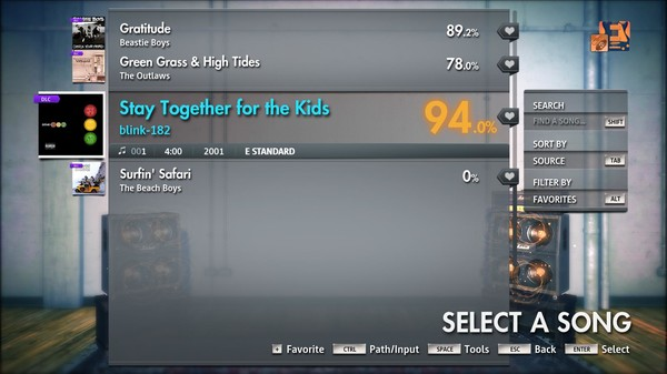 """Скриншот №1 к Rocksmith® 2014 Edition – Remastered – blink-182 - """"Stay Together for the Kids"""""""