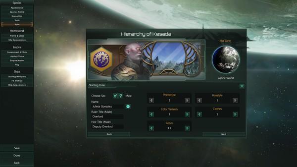 Скриншот №4 к Stellaris Humanoids Species Pack