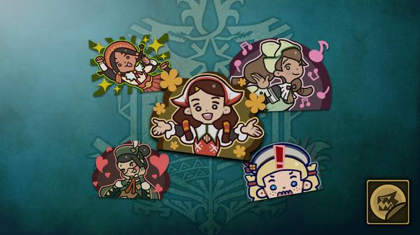 Скриншот №1 к Monster Hunter World - Набор стикеров девушки из гильдии