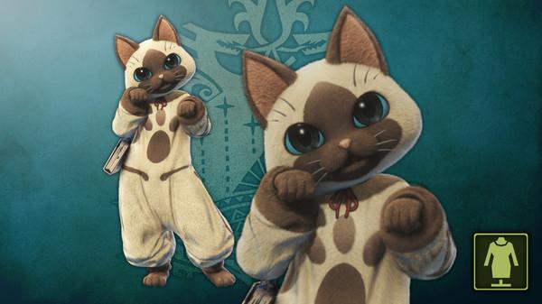 Скриншот №1 к Monster Hunter World - Костюм приветливой кошки проводника