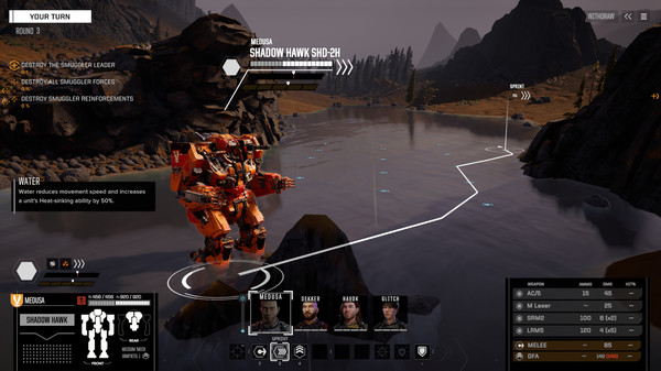 Скриншот №1 к BATTLETECH Shadow Hawk Pack