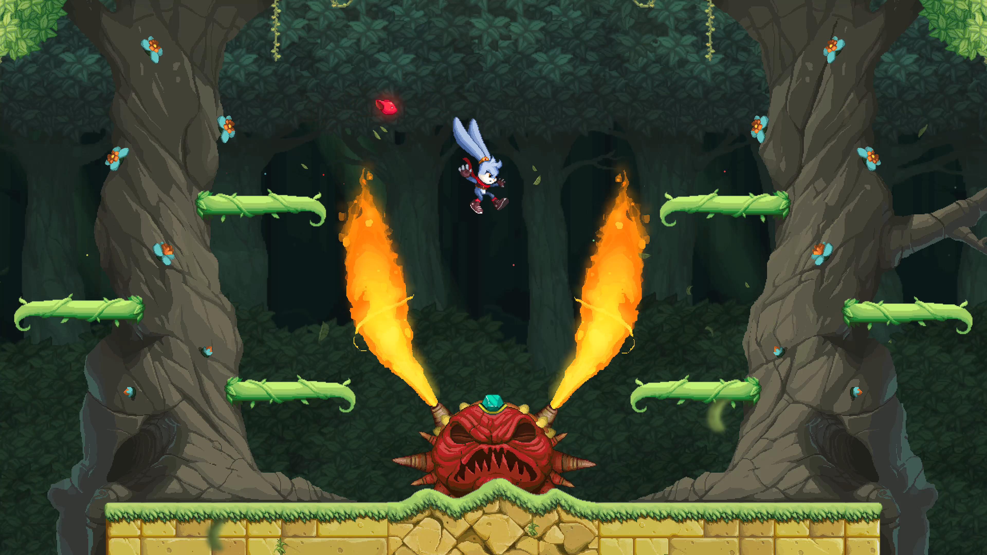 Bonito e simples, kaze and the wild masks arrebata o jogador na nostalgia e qualidade, no entanto
