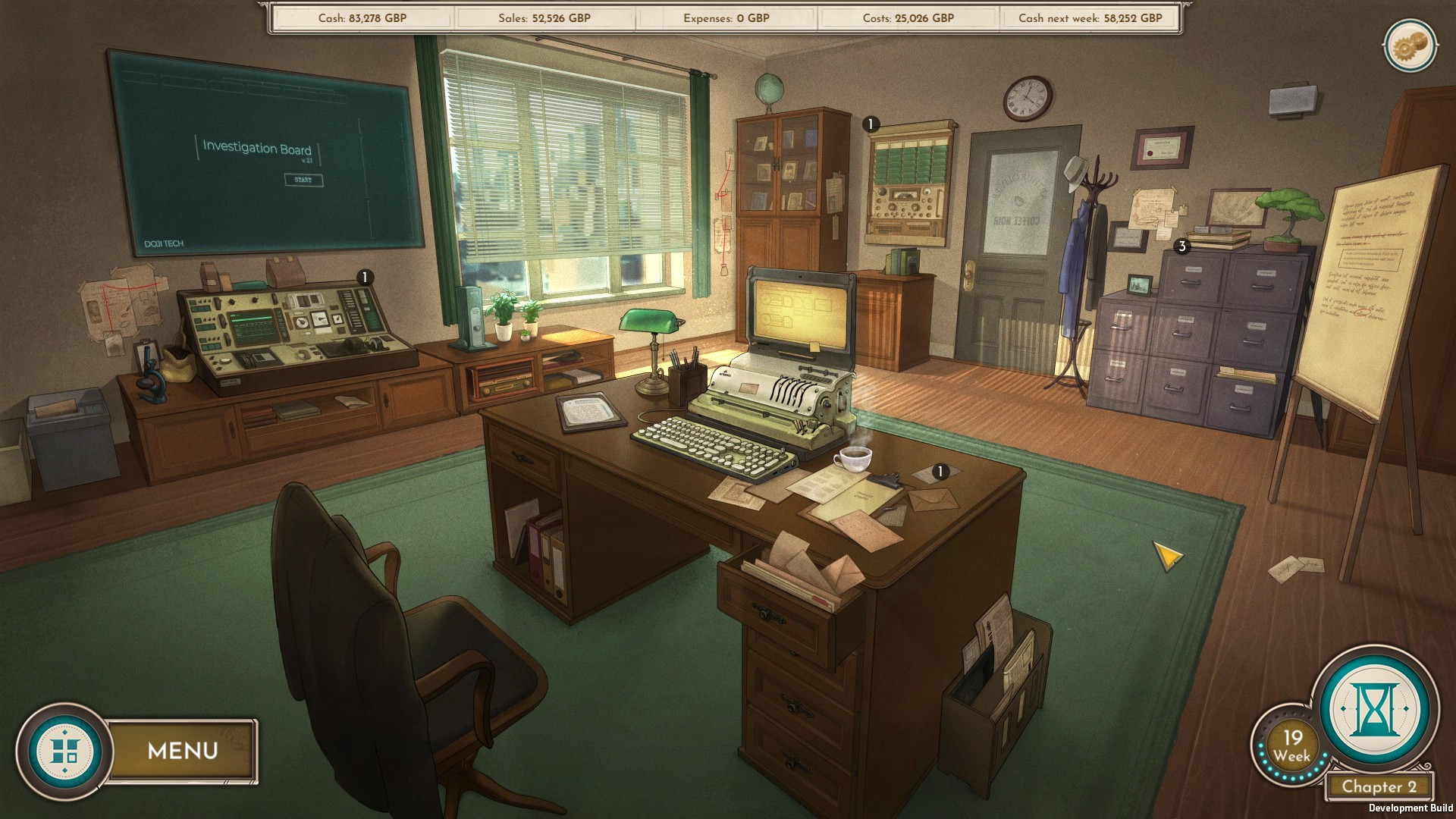 Coffee Noir - Business Detective Game screenshot 1