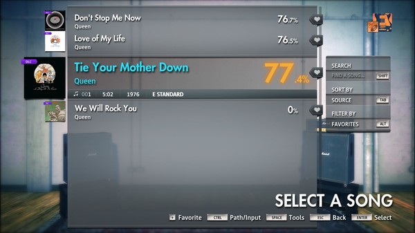 "Скриншот №3 к Rocksmith® 2014 Edition – Remastered – Queen - ""Tie Your Mother Down"""