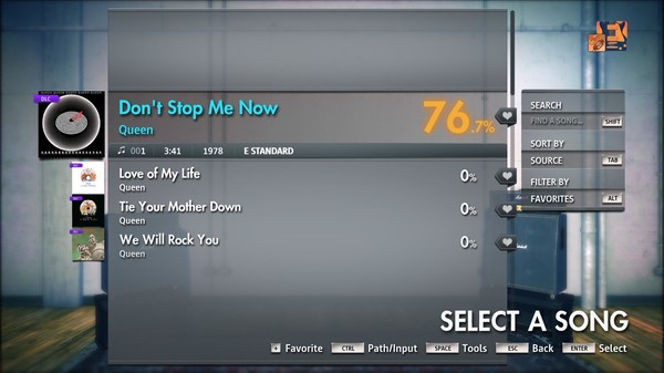 "Скриншот №2 к Rocksmith® 2014 Edition – Remastered – Queen - ""Dont Stop Me Now"""
