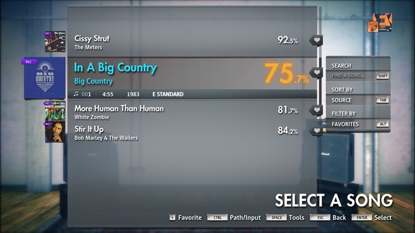 """Скриншот №1 к Rocksmith® 2014 Edition – Remastered – Big Country - """"In A Big Country"""""""