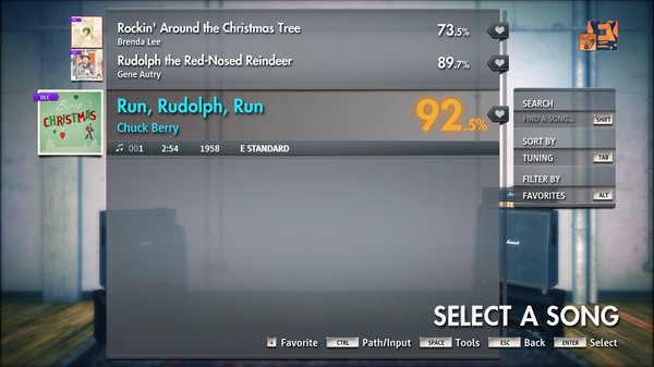 "Скриншот №3 к Rocksmith® 2014 Edition – Remastered – Chuck Berry - ""Run Rudolph Run"""