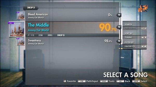 """Скриншот №1 к Rocksmith® 2014 Edition – Remastered – Jimmy Eat World - """"The Middle"""""""