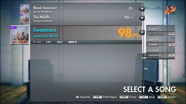 "Скриншот №1 к Rocksmith® 2014 Edition – Remastered – Jimmy Eat World - ""Sweetness"""