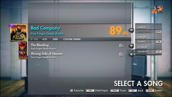 "Скриншот №4 к Rocksmith® 2014 Edition – Remastered – Five Finger Death Punch - ""Bad Company"""