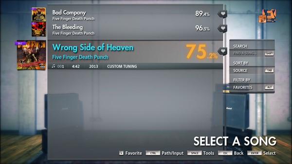 """Скриншот №1 к Rocksmith® 2014 Edition – Remastered – Five Finger Death Punch - """"Wrong Side of Heaven"""""""