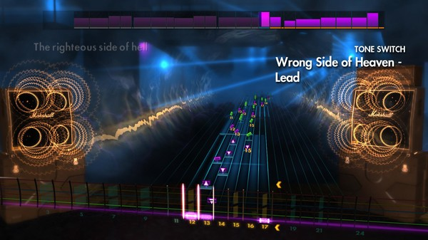 """Скриншот №2 к Rocksmith® 2014 Edition – Remastered – Five Finger Death Punch - """"Wrong Side of Heaven"""""""