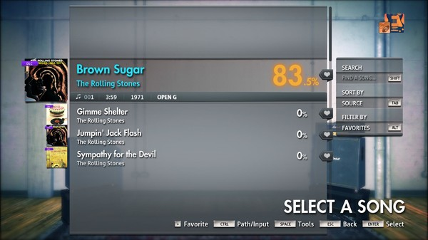 "Скриншот №1 к Rocksmith® 2014 Edition – Remastered – The Rolling Stones - ""Brown Sugar"""