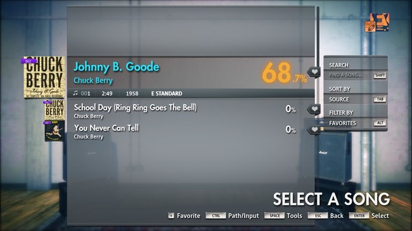 "Скриншот №3 к Rocksmith® 2014 Edition – Remastered – Chuck Berry - ""Johnny B. Goode"""