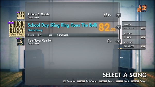"Скриншот №5 к Rocksmith® 2014 Edition – Remastered – Chuck Berry - ""School Day Ring Ring Goes The Bell"""