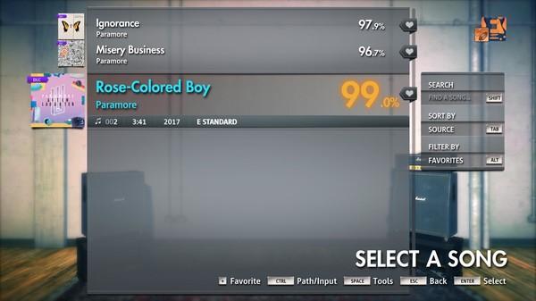 "Скриншот №2 к Rocksmith® 2014 Edition – Remastered – Paramore - ""Rose-Colored Boy"""