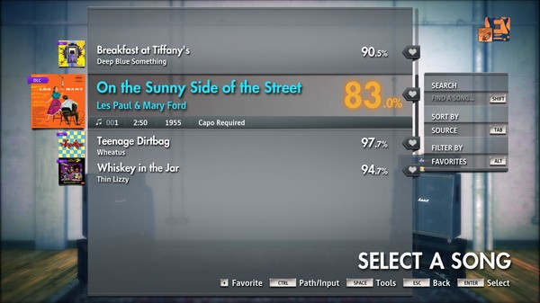 "Скриншот №2 к Rocksmith® 2014 Edition – Remastered – Les Paul  Mary Ford - ""On the Sunny Side of the Street"""