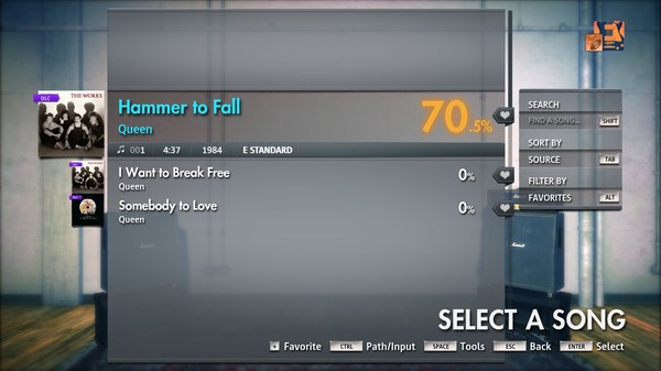 "Скриншот №1 к Rocksmith® 2014 Edition – Remastered – Queen - ""Hammer to Fall"""