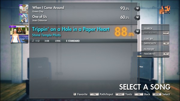 "Скриншот №3 к Rocksmith® 2014 Edition – Remastered – Stone Temple Pilots - ""Trippin on a Hole in a Paper Heart"""