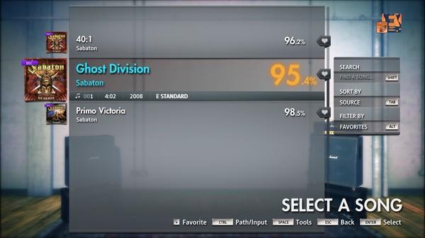 "Скриншот №2 к Rocksmith® 2014 Edition – Remastered – Sabaton - ""Ghost Division"""