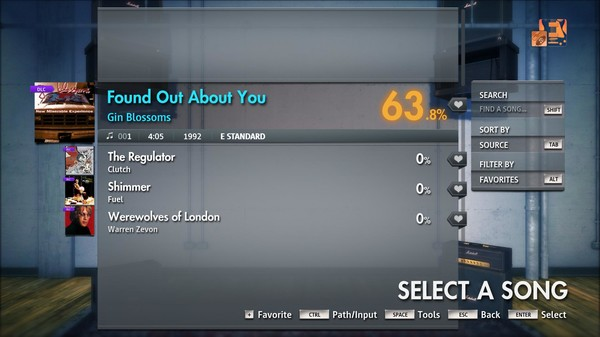 """Скриншот №2 к Rocksmith® 2014 Edition – Remastered – Gin Blossoms - """"Found Out About You"""""""