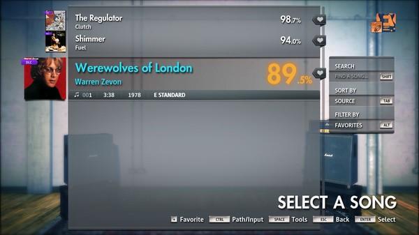 "Скриншот №3 к Rocksmith® 2014 Edition – Remastered – Warren Zevon - ""Werewolves of London"""