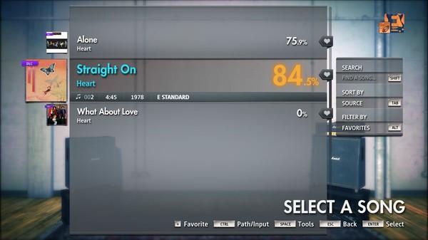 """Скриншот №2 к Rocksmith® 2014 Edition – Remastered – Heart - """"Straight On"""""""