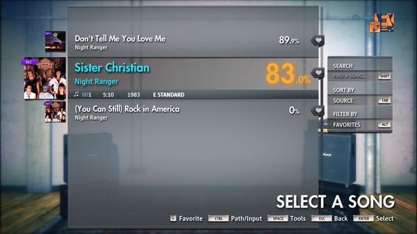 "Скриншот №3 к Rocksmith® 2014 Edition – Remastered – Night Ranger - ""Sister Christian"""