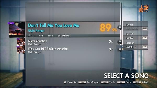 "Скриншот №1 к Rocksmith® 2014 Edition – Remastered – Night Ranger - ""Dont Tell Me You Love Me"""