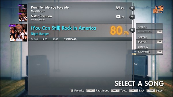 "Скриншот №4 к Rocksmith® 2014 Edition – Remastered – Night Ranger - ""You Can Still Rock in America"""