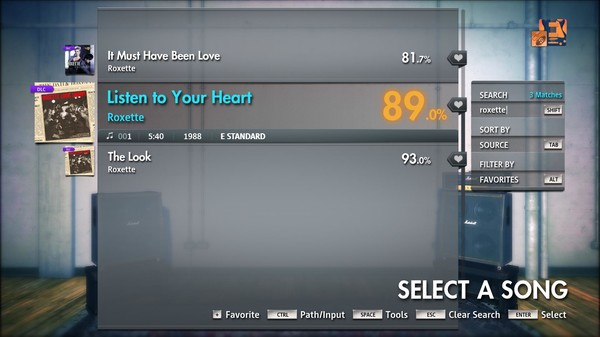 """Скриншот №3 к Rocksmith® 2014 Edition – Remastered – Roxette - """"Listen to Your Heart"""""""