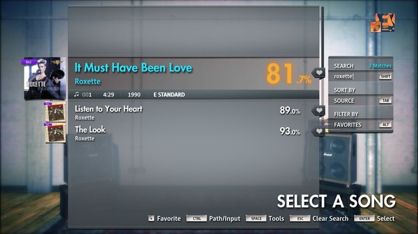 "Скриншот №4 к Rocksmith® 2014 Edition – Remastered – Roxette - ""It Must Have Been Love"""