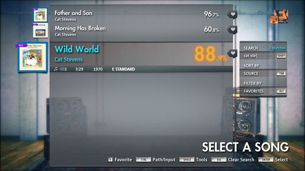 "Скриншот №3 к Rocksmith® 2014 Edition – Remastered – Cat Stevens - ""Wild World"""