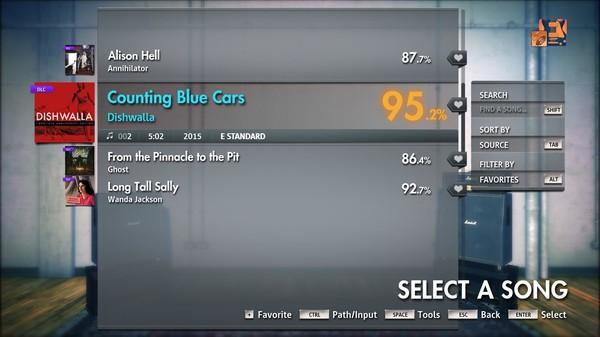 "Скриншот №1 к Rocksmith® 2014 Edition – Remastered – Dishwalla - ""Counting Blue Cars"""