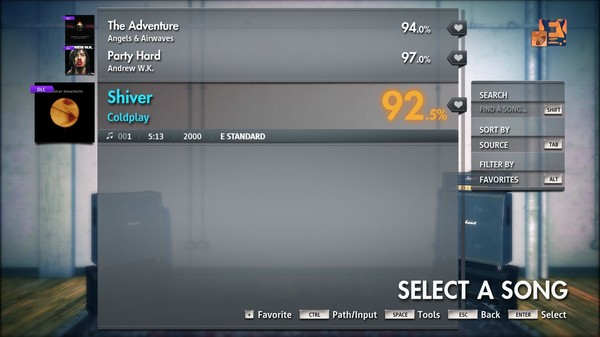 "Скриншот №5 к Rocksmith® 2014 Edition – Remastered – Coldplay- ""Shiver"""