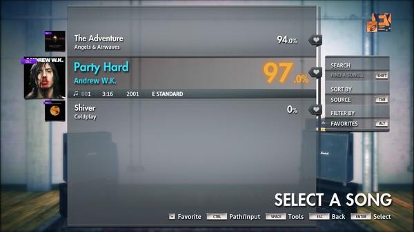 "Скриншот №5 к Rocksmith® 2014 Edition – Remastered – Andrew W.K.- ""Party Hard"""